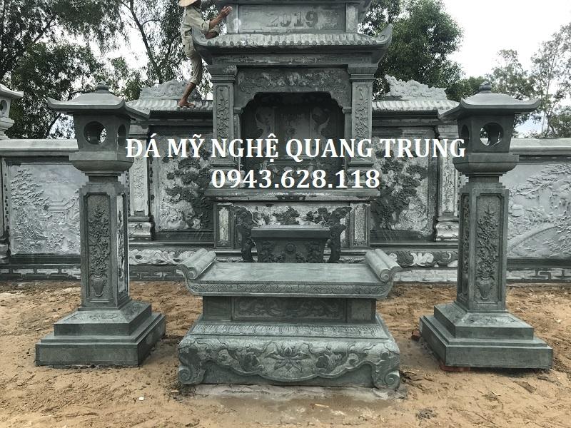 Den da trang tri - Ban tho da xanh reu cao cap Quang Trung