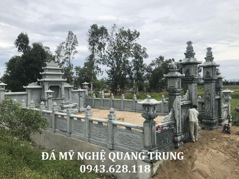 Tổng quan khu lăng mộ đá xanh rêu cao cấp tại Nghệ An do Nghệ nhân trẻ Quang Trung thiết kế và xây dựng