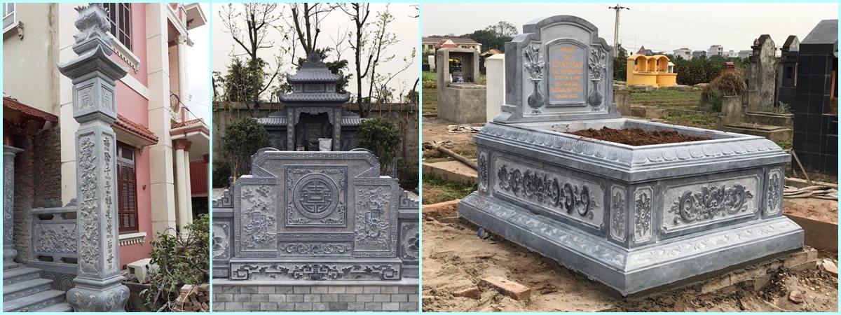Mẫu Mộ Đá ĐẸP - Cột Đá Đẹp nhà thờ họ - Cuốn thư đá ĐẸP Đá Mỹ Nghệ Nam Phong Ninh Bình