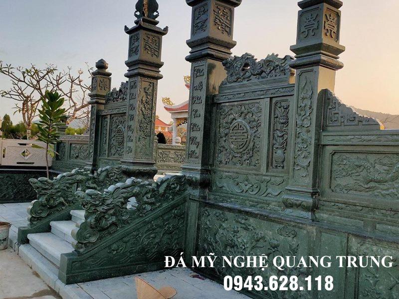 Hoa van sac net - chi tiet dang cap da xanh reu mang lai - Cong da Lang mo da DEP da xanh reu nguyen khoi