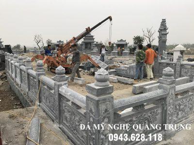 Xây Lan can đá tại Hưng Yên