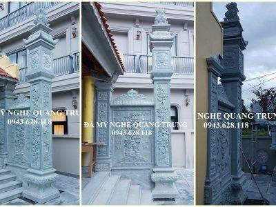 Đặt Cột đá xanh cho Nhà thờ họ – Mẫu Cột đá đẹp tại Ninh Bình hiện nay