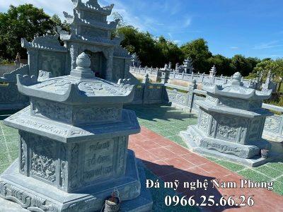 Xây Lăng mộ đá xanh Lục Giác đẹp tại Ninh Bình – Mẫu Lăng mộ đẹp hiện nay