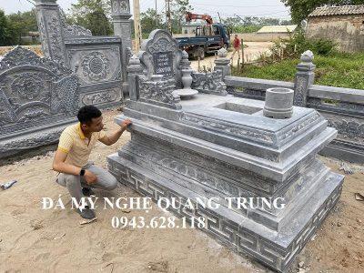 Tư vấn, xây dựng Lăng mộ đá dòng họ Lê Quốc – Mẫu Lăng mộ đẹp, cổ kính hiện nay