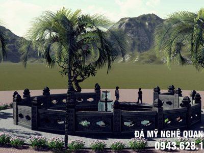 Xây Giếng đá, Mẫu Giếng làng đá xanh tự nhiên đẹp tại Ninh Bình