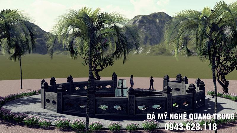 Ban ve Thiet ke Gieng da xanh tu nhien Ninh Binh