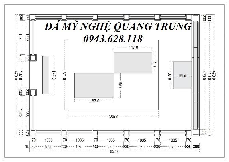 Ban ve thiet ke Mat bang tong the khu Lang mo da