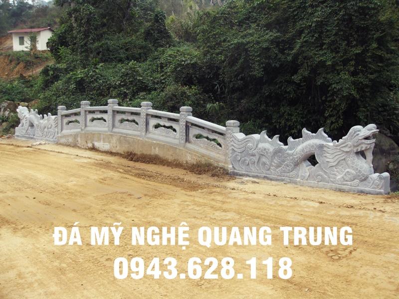 Cau Rong da - Mau Cau Rong bang da xanh khoi