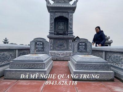 Xây Lăng mộ đá Tam Sơn nguyên khối cho Ông Bà tại Thái Bình