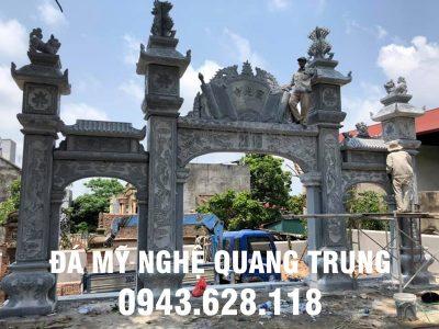 Xây dựng Cổng đá xanh khối, Cổng đá Tam quan cho Đình Làng tại Nghệ An