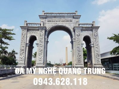Mẫu Cổng đá Tam Quan Làng nghề Đá Ninh Vân, Hoa Lư, Ninh Bình