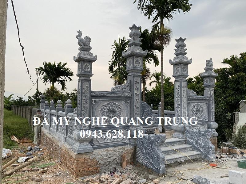 Cong vao Khu lang mo da con duoc bo tri hai con Rong bo da hai ben Bac them da