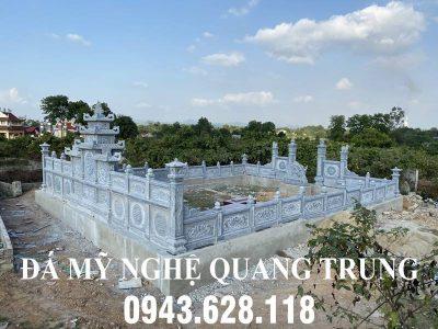 Xây dựng Lăng mộ đá cho Gia đình Chú Thông tại Nghệ An- Mẫu Lăng mộ đá đẹp