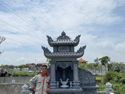 Xây Lăng mộ đá đẹp, đơn giản giá khoảng 120 triệu đồng tại Ninh Bình