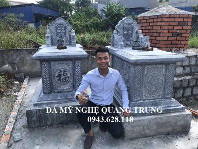 Mẫu Mộ đá đơn Tam Sơn đẹp, giá rẻ tại Hải Phòng năm 2018