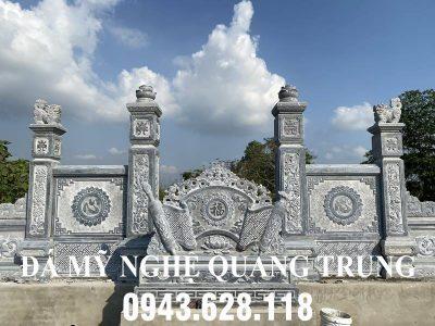 Mẫu Cuốn thư đá (Bình phong đá) đẹp tại Lăng mộ đá ở Nghệ An