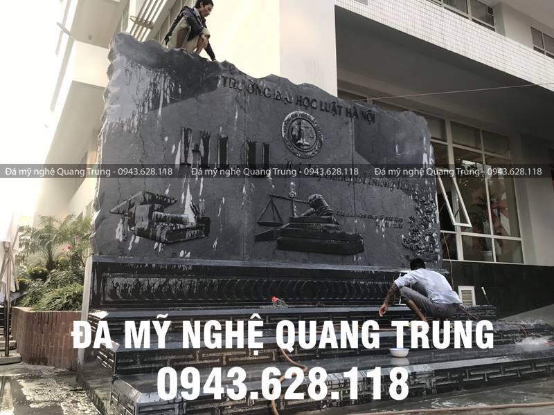 Nghe nhan Quang Trung rat cham chi voi Bia da tu nhien