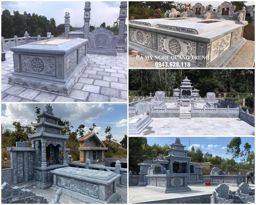 Tư vấn, Xây Lăng Mộ đẹp, Lăng mộ đá xanh tại Ninh Bình.