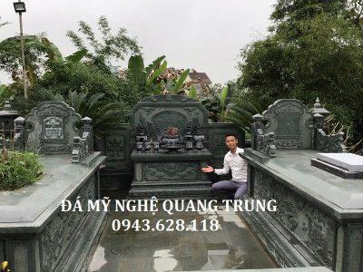 Mẫu Lăng mộ đá đẹp xanh rêu cao cấp Quang Trung Ninh Bình cho Ông Bà, Cha Mẹ
