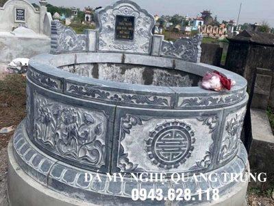 Mẫu Mộ đá tròn cho Khu lăng mộ đá đẹp tại Ninh Bình