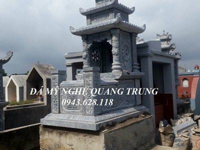 Mẫu Mộ đá ba mái – Mộ đá đẹp Ninh Bình của Nghệ nhân trẻ Quang Trung